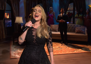 Adele sings her hits, repeatedly, and has no chill on 'The Bachelor' for 'SNL'